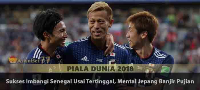 Sukses Imbangi Senegal Usai Tertinggal, Mental Jepang Banjir Pujian Agen Bola Piala Dunia 2018
