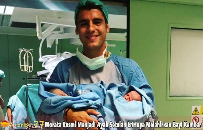 Morata-Resmi-Menjadi-Ayah-Setelah-Istrinya-Melahirkan-Bayi-Kembar