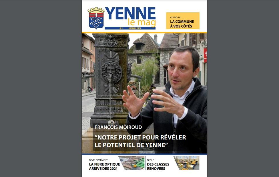 """Le premier numéro de """"Yenne le Mag"""" en Savoie"""