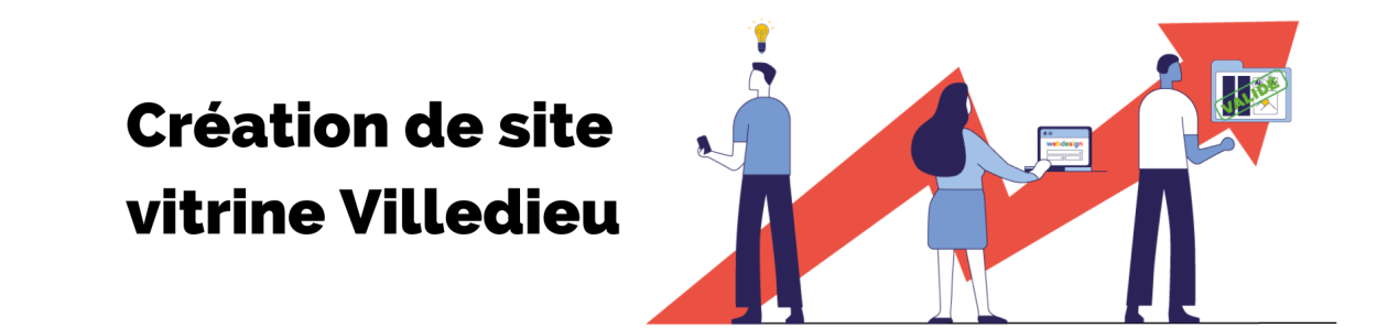 Bannière de la page création de site vitrine villedieu de l'agence rt