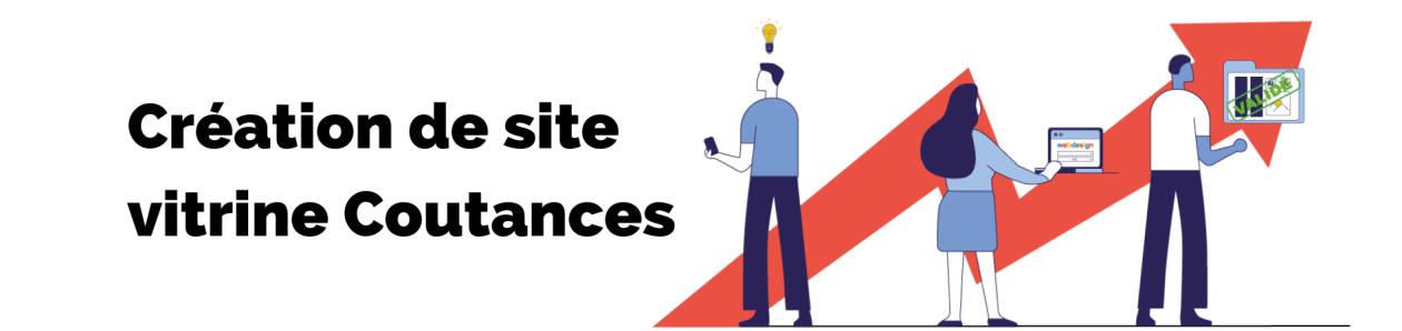Bannière de la page création de site vitrine coutances de l'agence rt