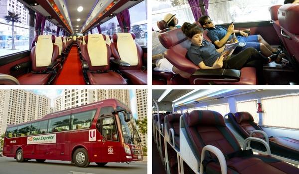 Bus express de Hanoi Sapa