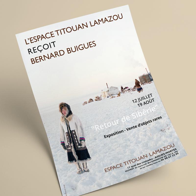 Flyer de l'exposition à Aigues-Mortes