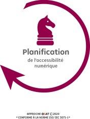 Icone de la planification, un cavalier au échec