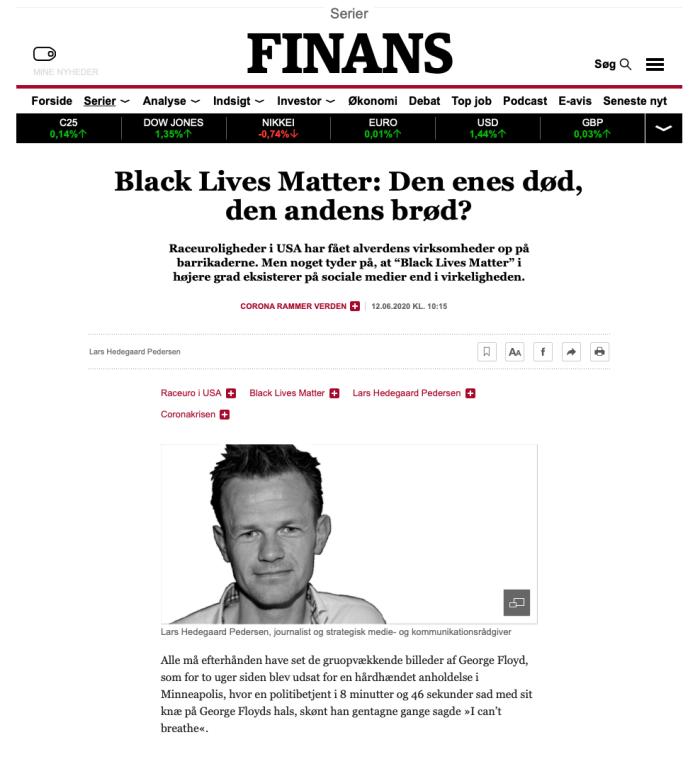 Raceuroligheder i USA har fået alverdens virksomheder op på barrikaderne. Men noget tyder på, at Black Lives Matter i højere grad eksisterer på sociale medier end i virkeligheden.