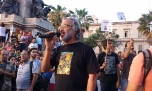Mario Farías durante la radio abierta en Córdoba