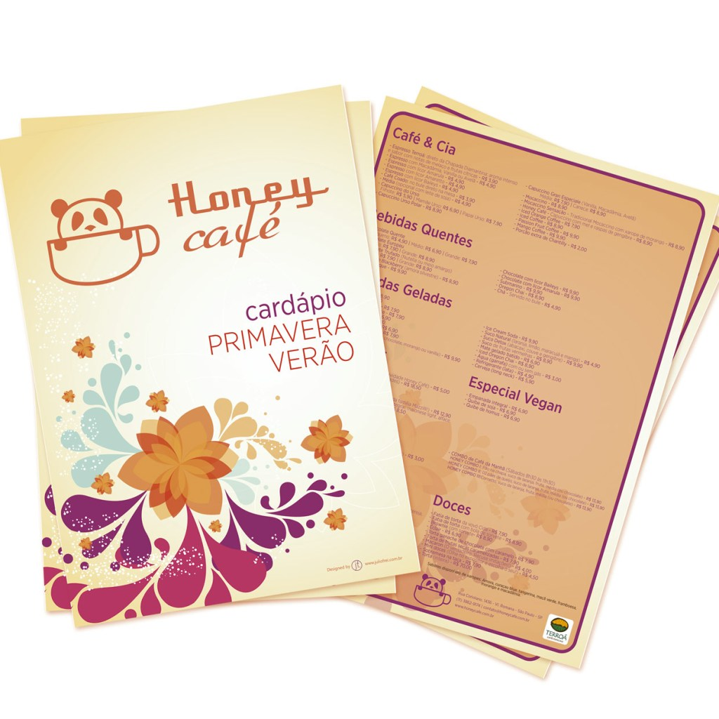 criação de logo Honey Café – Vila Romana (SP) Cardapio Honey Cafe 2019 1024x1024