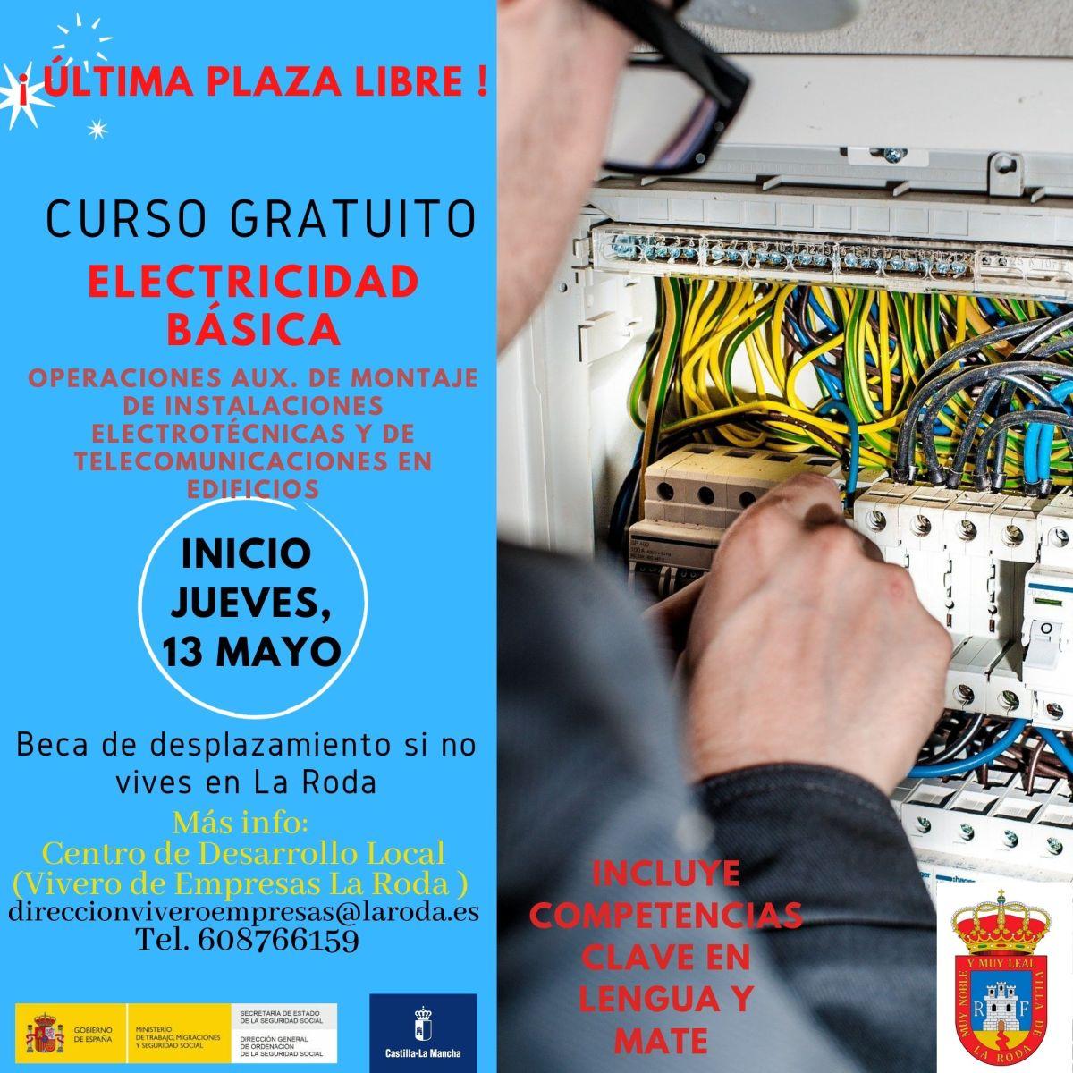 Curso «Operaciones auxiliares de montaje de instalaciones electrotécnicas y de telecomunicaciones en edificios». La Roda (Albacete).