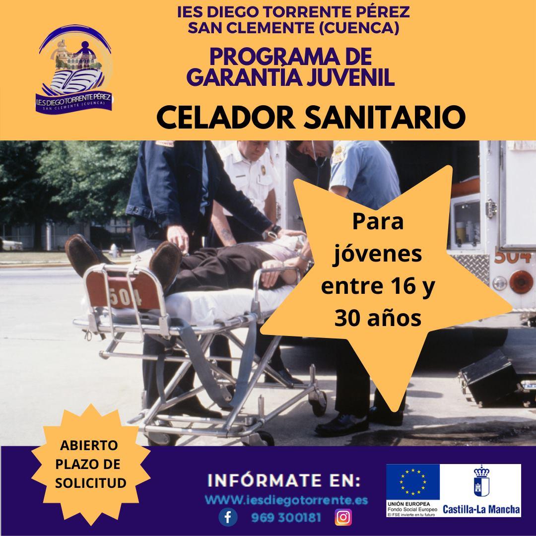 Programa de Garantía Juvenil. Celador Sanitario. San Clemente (Cuenca).