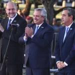 El presidente Fernández y el gobernador Perotti encabezaron el acto de inauguración del Monumento al General Belgrano