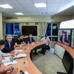 El Presidente Fernández repasa medidas con intendentes, a través de videoconferencia