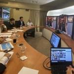 El Presidente Fernández en videoconferencia con los gobernadores previo al anuncio sobre una nueva fase del aislamiento social