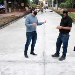 """Leo Nardini supervisó la obra integral de la calle Fragata Heroína: """"Será un conector muy importante para los vecinos"""""""