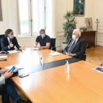 Santiago Cafiero se reunió en la Casa de Gobierno con los ministros de Salud de Nación y el AMBA