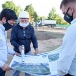 """Leo Nardini visitó las obras en la plaza La Amistad de Tortuguitas: """"estamos llevando adelante la recuperación del espacio público"""""""
