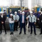 """Presidente Fernández visitó la autopartista metalúrgica Maro SA, en Baradero: """"Me alegra que Volkswagen siga apostando a la Argentina"""""""
