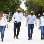 """Leo Nardini recorrió nueva obra integral de pavimentación de calles Artigas y Savio: """"Cumplimos con los vecinos de Malvinas Argentinas"""""""