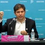 """Gobernador Kicillof: """"En los últimos 3 días vacunamos a 95 mil personas"""""""