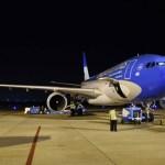 En su séptima operación a Moscú el Airbus 330-200 de Aerolíneas Argentinas aterrizó en el aeropuerto Internacional Sheremetievo