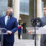 """Presidente Fernández: """"Quiero agradecerle públicamente al presidente de Francia por su apoyo y acompañamiento"""""""