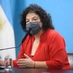 """Ministra Vizzotti: """"La prioridad uno del gobierno es completar los esquemas de vacunación"""""""