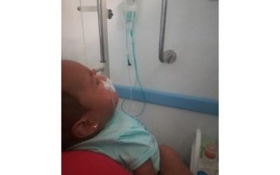A bebé de siete meses, Medimas deja en riesgo de muerte, denuncian familiares
