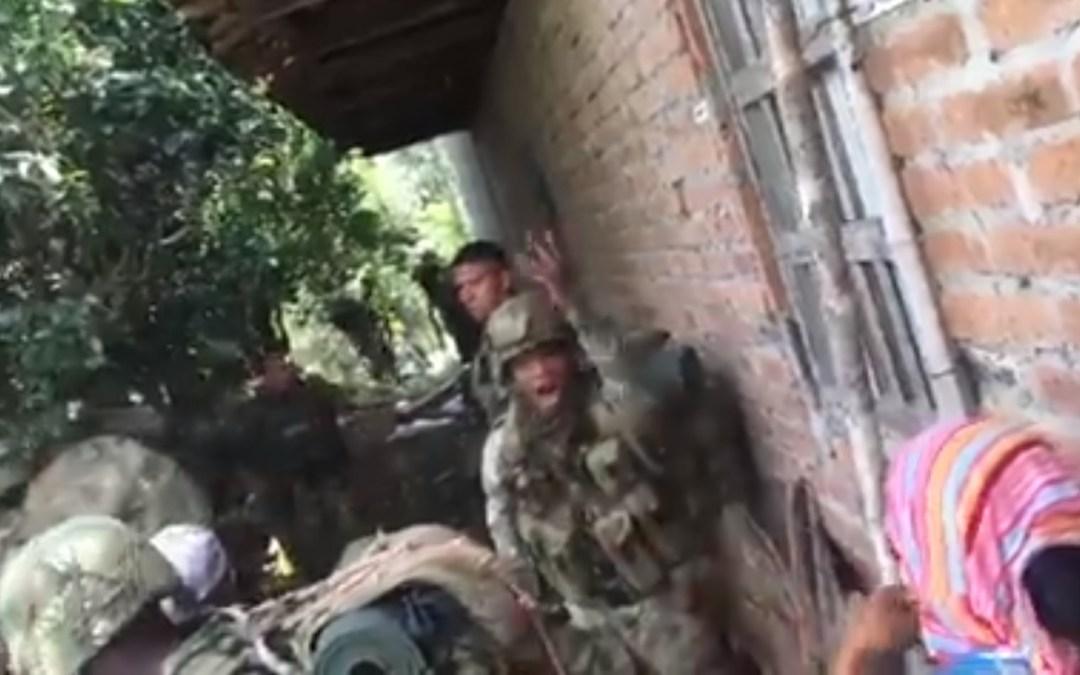 Ejército dispara contra comunidad campesina en Mondomo-Cauca