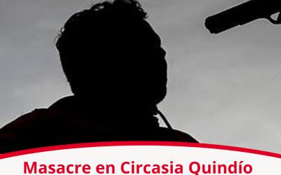 Masacre en Circasia deja 4 muertos y 3 heridos