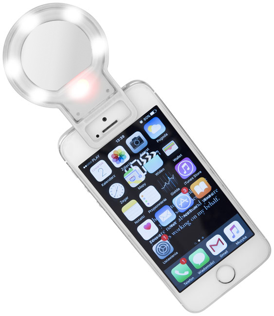 Selfie LED flash con espejo para Smartphone