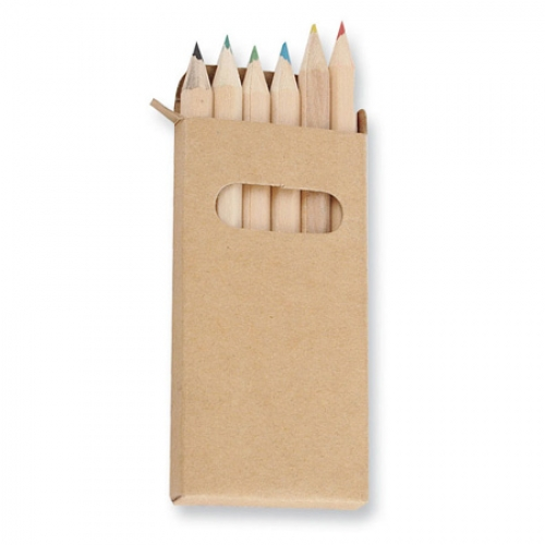 lápices de madera con goma de colores
