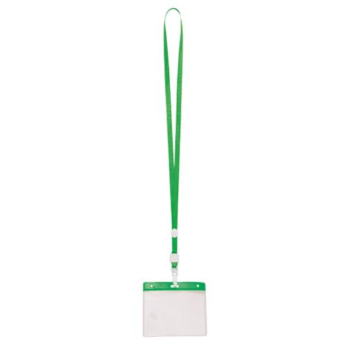 porta acreditaciones verde