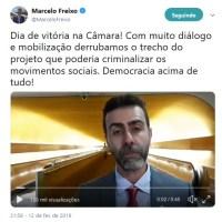 A FAKE NEWS DE FREIXO: Psol e PT não evitaram a criminalização dos Movimentos Sociais. Vitória do Bloco PDT - PCdoB - PSB. Entenda