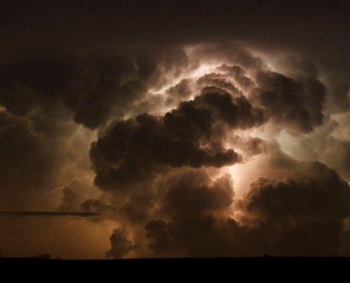 Tormenta eléctrica en Medina del Campo