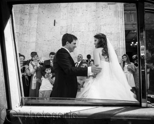 El coche en una boda