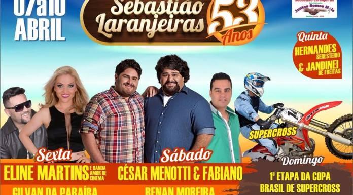 53 anos de Sebastião Laranjeiras