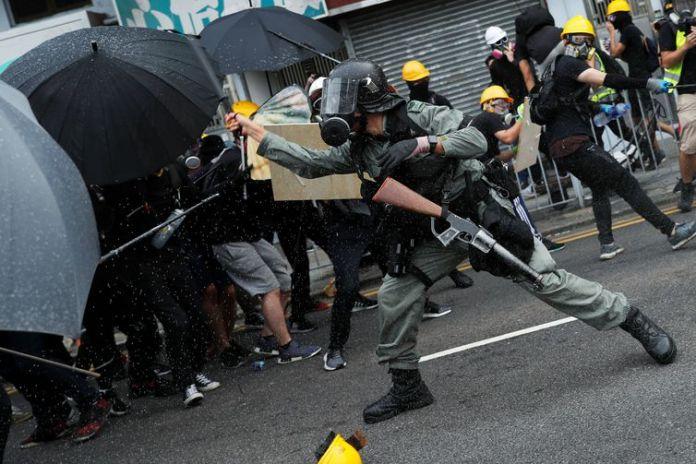 Protestos, Hong Kong. REUTERS/Tyrone Siu