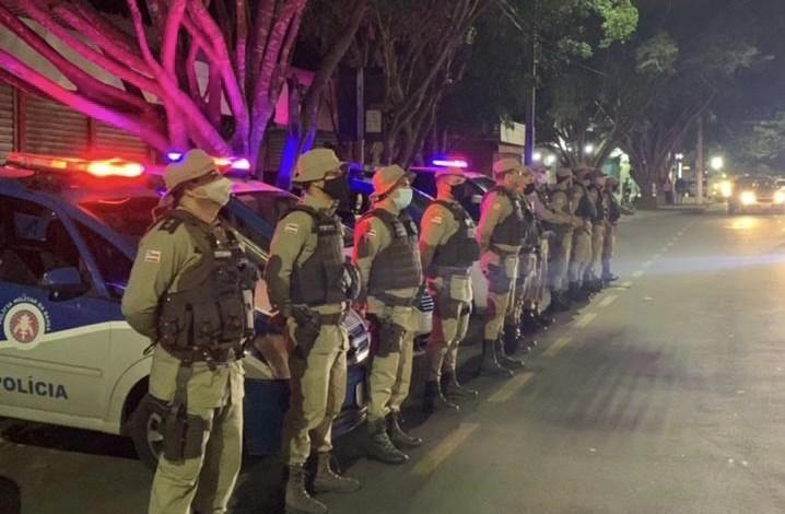 policia militar toque de recolher conquista