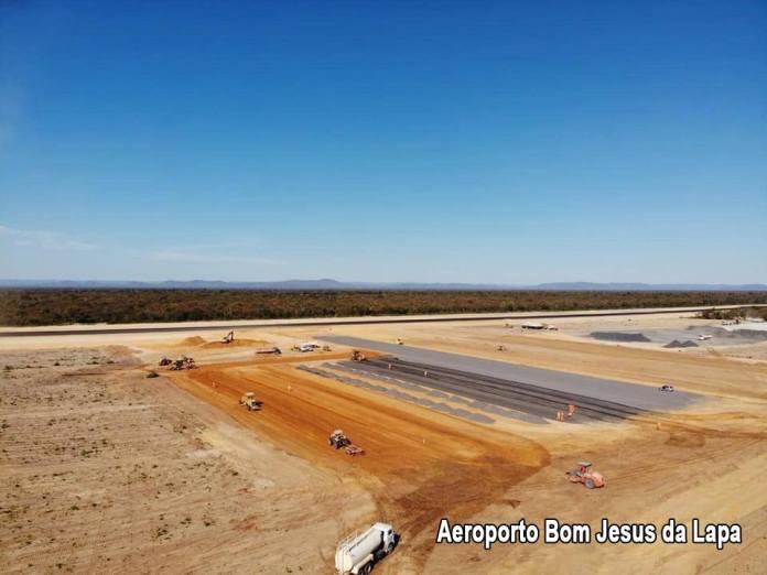 obras do aeroporto de Bom Jesus da Lapa
