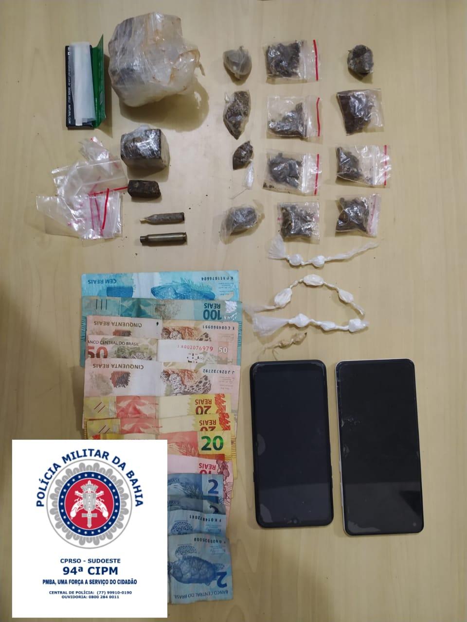 Polícia prendeu suspeito de tráfico de drogas em Caculé