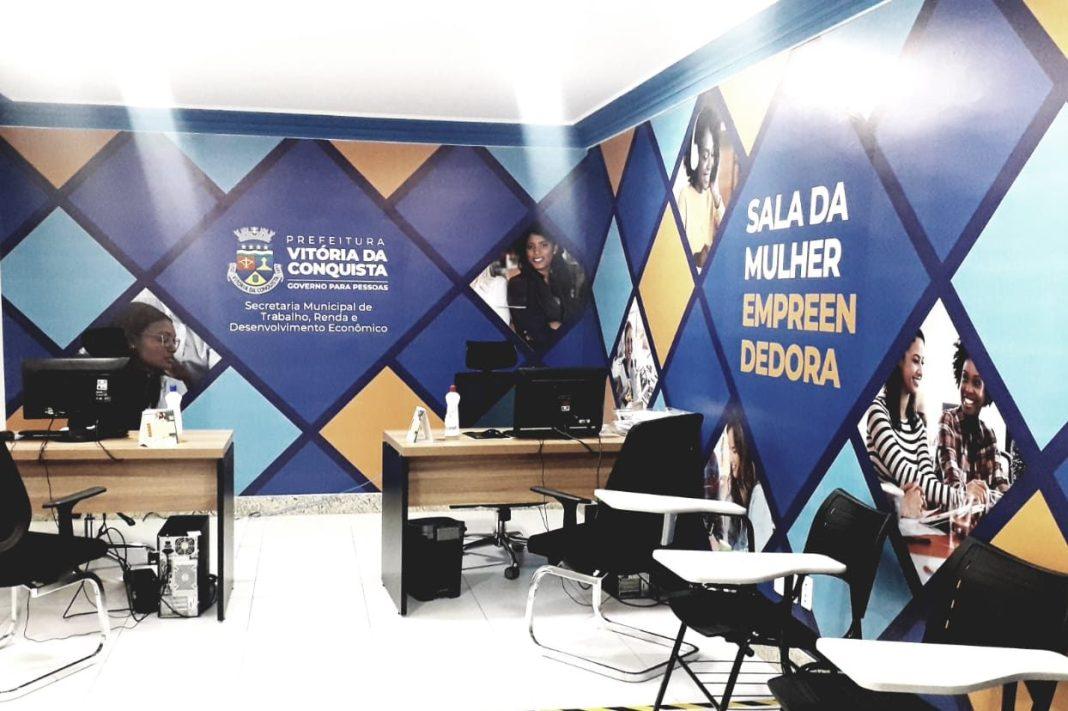 sala da mulher empreendedora