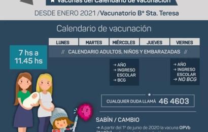 Cambios en el cronograma de vacunación para escolares