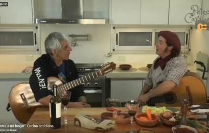 Nico Membriani cocinó con Peteco Carabajal
