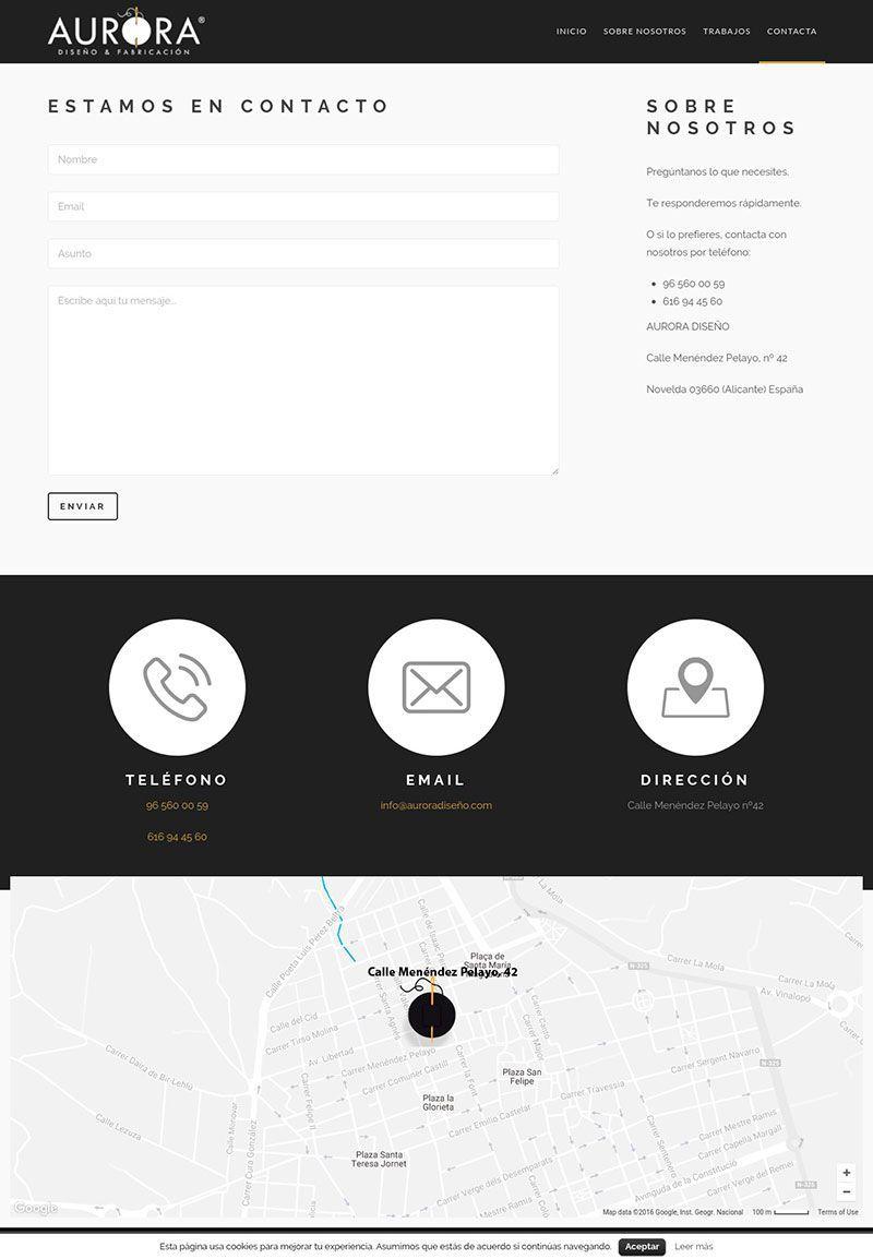 Agencia Sidecar aurora-diseno-creacion-web-wordpress-contacto Aurora Diseño