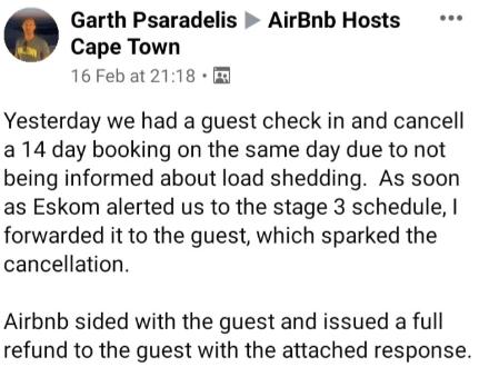 airbnbloadsheddingcapetown