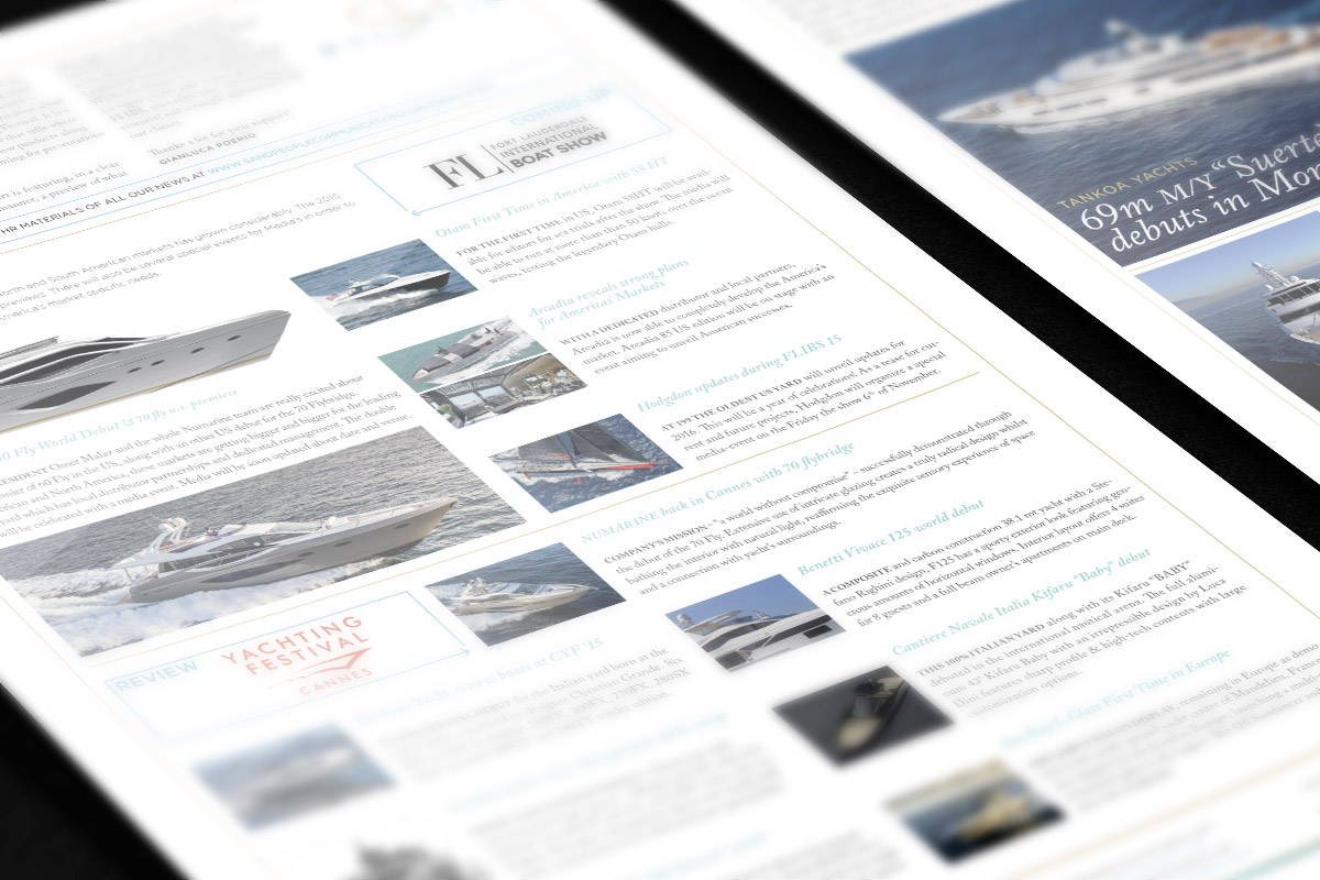 Sand People Communication Newsletter for Monaco Yacht Show