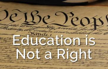 Education is not a right