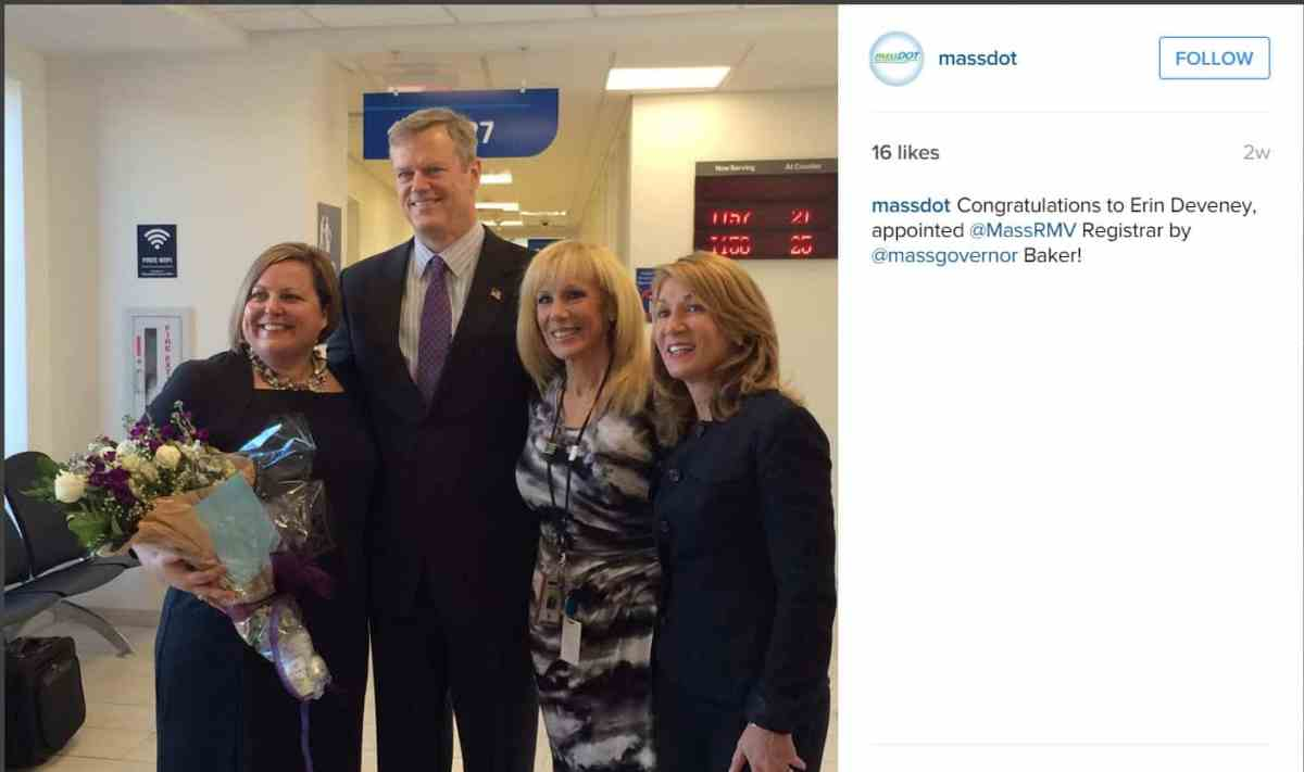 Erin Deveney Officially Appointed RMV Registrar