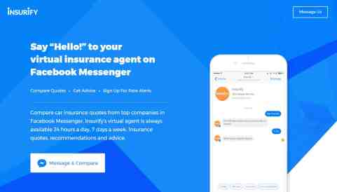 Insurify Launches Facebook Messenger Insurance Comparison Service Along  With Nabbing $4 6 Million More In Funding