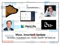 MA Insurtech Update: TrustedChoice.com, Cooley, MetLife & MIT Media Lab