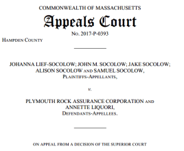 Agency Checklists, MA Insurance Law Cases, Plymouth Rock Insurance Lawsuit, MA Insurance News, Mass. Insurance News